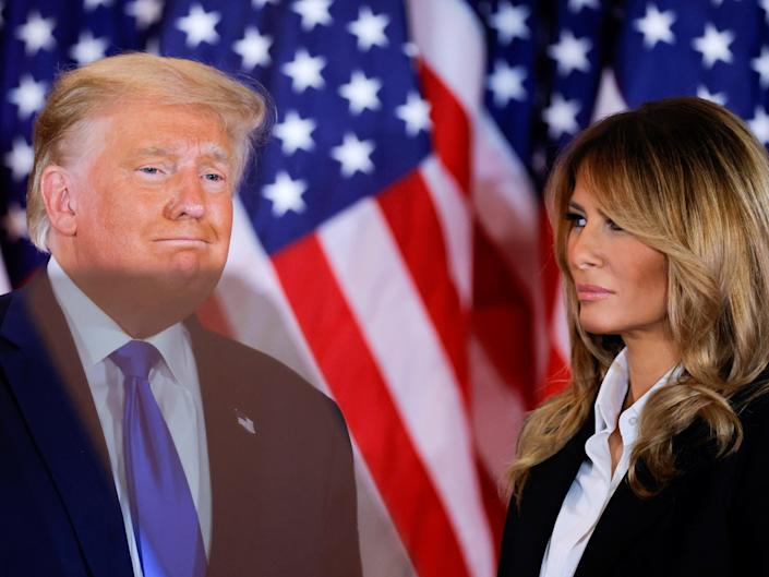 Former President Donald Trump and former first lady Melania Trump  (REUTERS)