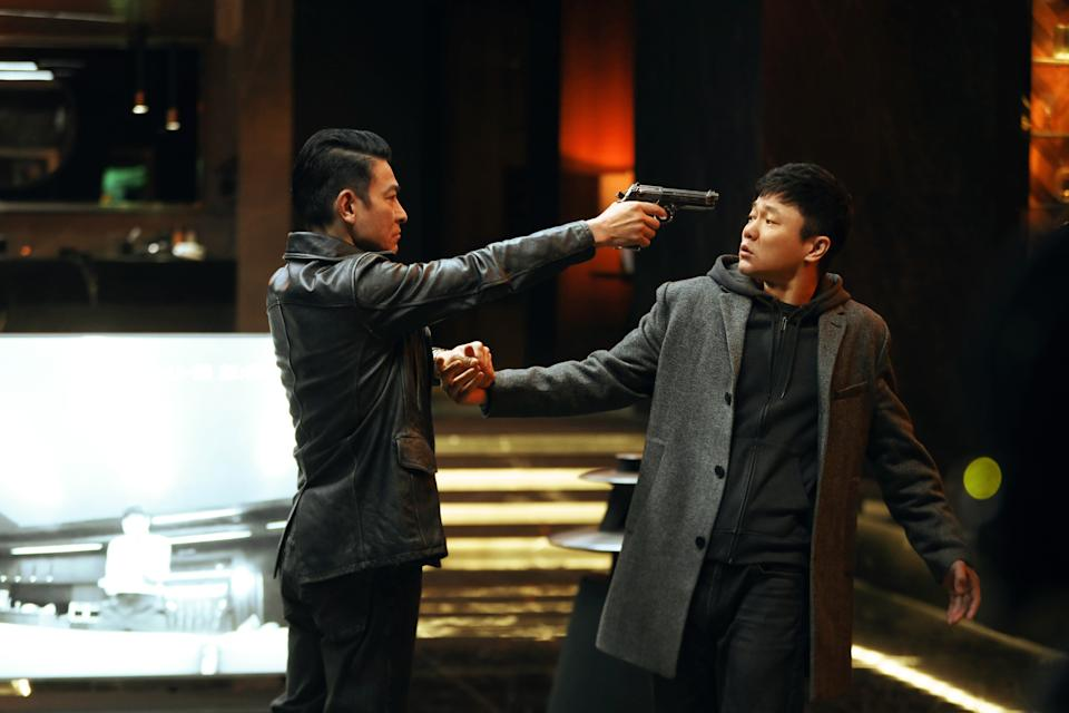 Andy Lau (left) and Xiao Yang in Endgame. (Photo: Golden Village Pictures)