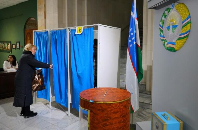Choices on the ballot in Uzbekistan were few -- all five parties competing are represented in the outgoing parliament (AFP Photo/Yuri KORSUNTSEV)