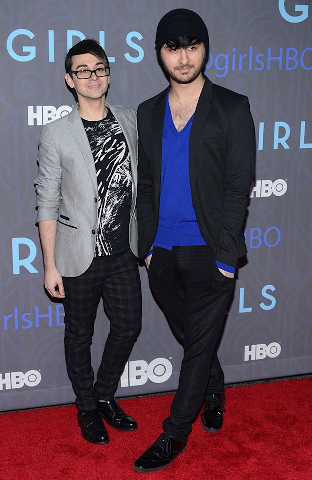 "Christian Siriano attends HBO's premiere of ""Girls"" Season 2 at the NYU Skirball Center on January 9, 2013 in New York City."