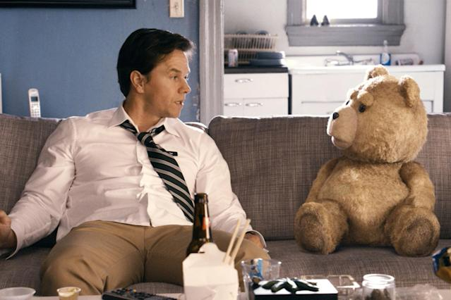 "<p><a href=""http://www.instyle.com/celebrity/mark-wahlberg"" rel=""nofollow noopener"" target=""_blank"" data-ylk=""slk:Mark Wahlberg"" class=""link rapid-noclick-resp"">Mark Wahlberg</a> and his beloved childhood teddy bear, Ted (Seth MacFarlane), learn how to grow up (sort of) in this hilarious Boston-set comedy.</p>"