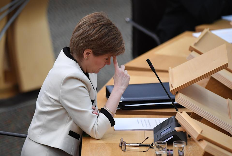 First Minister Nicola Sturgeon confirmed the current lockdown is being extended till at least the middle of February (Andy Buchanan/PA)
