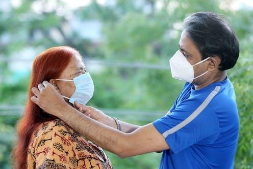 """<span class=""""attribution""""><a class=""""link rapid-noclick-resp"""" href=""""https://www.shutterstock.com/image-photo/indian-son-helping-old-mother-wearing-1749438734"""" rel=""""nofollow noopener"""" target=""""_blank"""" data-ylk=""""slk:Mukesh Kumar Jwala/Shutterstock"""">Mukesh Kumar Jwala/Shutterstock</a></span>"""