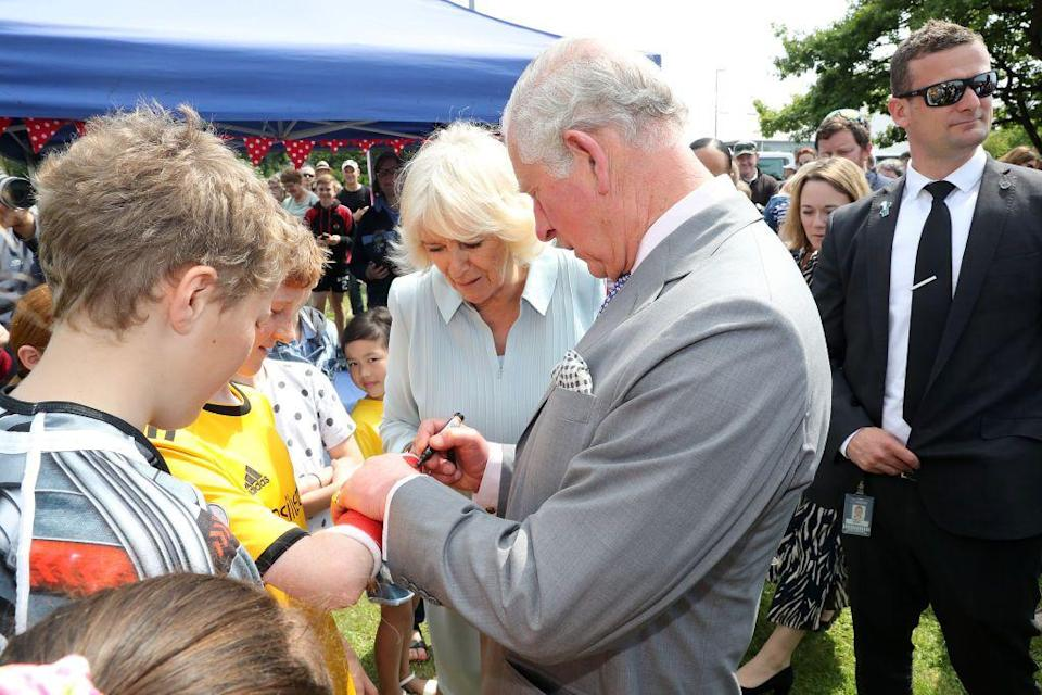 <p>During his visit to Christchurch, Prince Charles gave one fan a rare signature on his cast.</p>