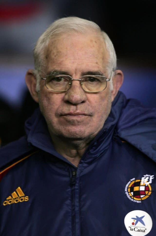 Former Spain boss Luis Aragones (pictured) was Quique Setien's manager at Atletico Madrid (Martin Rickett/PA)