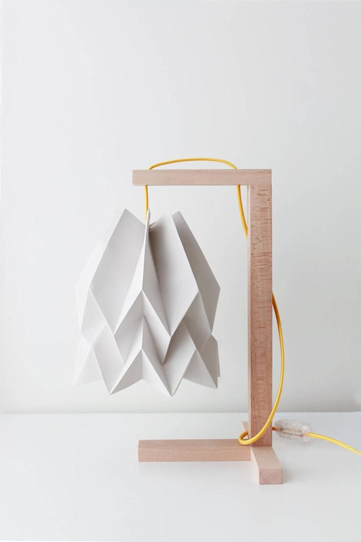 """$112, Etsy. <a href=""""https://www.etsy.com/listing/575765941/origami-lampshade-table-lamp-plain-light"""" rel=""""nofollow noopener"""" target=""""_blank"""" data-ylk=""""slk:Get it now!"""" class=""""link rapid-noclick-resp"""">Get it now!</a>"""
