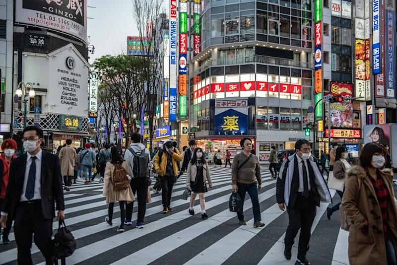 The Kabuki-cho district of Tokyo on Sunday. The area had a disproportionate number of coronavirus cases.