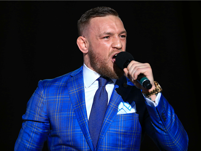Conor McGregor is coming under fire for making more racially driven comments during his Floyd Mayweather fight press tour