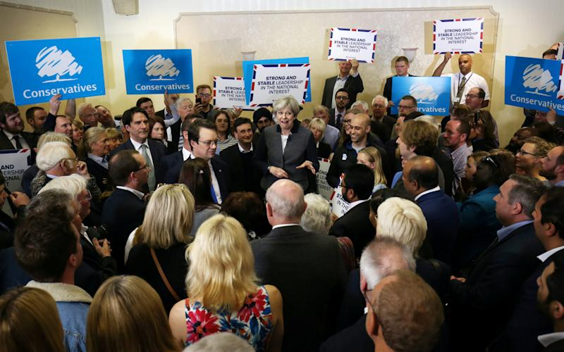 Theresa May in Dudley on April 22