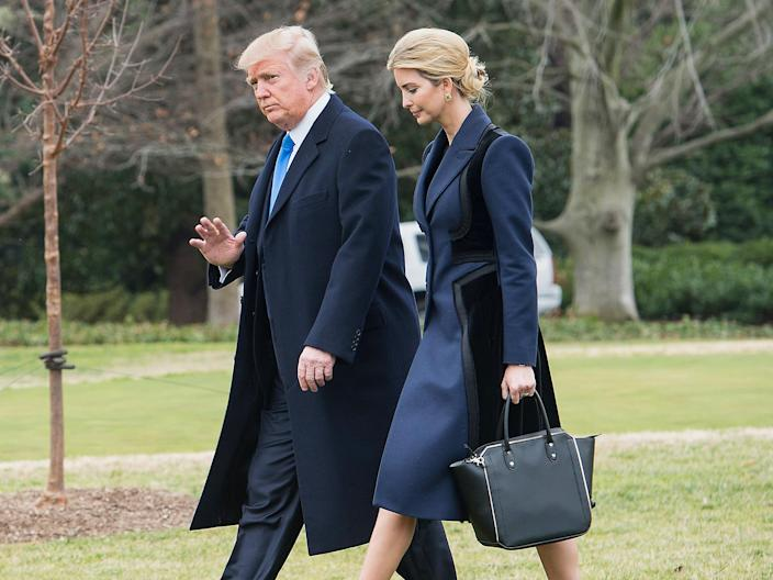 US President Donald Trump and his daughter Ivanka: Getty