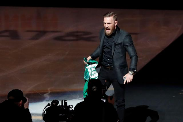 Conor McGregor announced his retirement, but not everyone thinks it's for real. (Photo by Fred Kfoury III/Icon Sportswire via Getty Images)