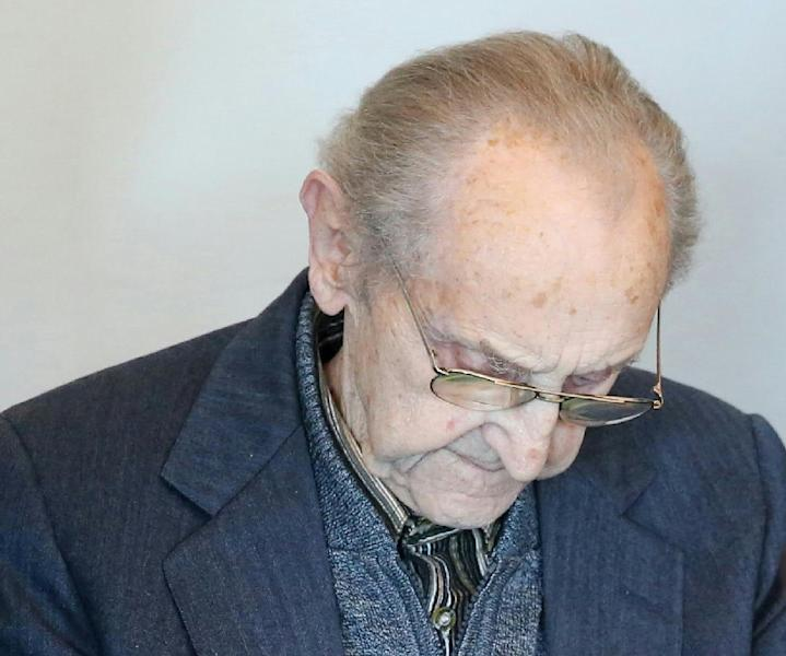 Former SS medic Hubert Zafke is accused of aiding in 3,681 murders while working at the Auschwitz death camp in 1944 (AFP Photo/)