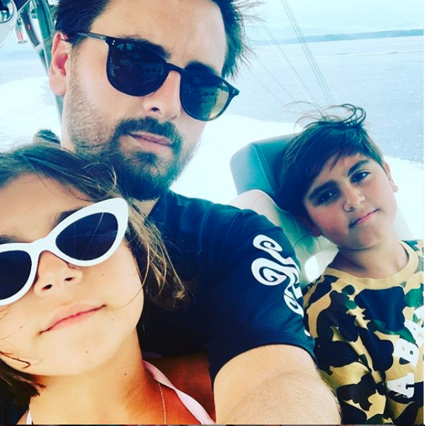 Scott regularly posts pictures of his three children, Mason, Penelope and Reign, to his Instagram account. Photo: Instagram/Scott Disick