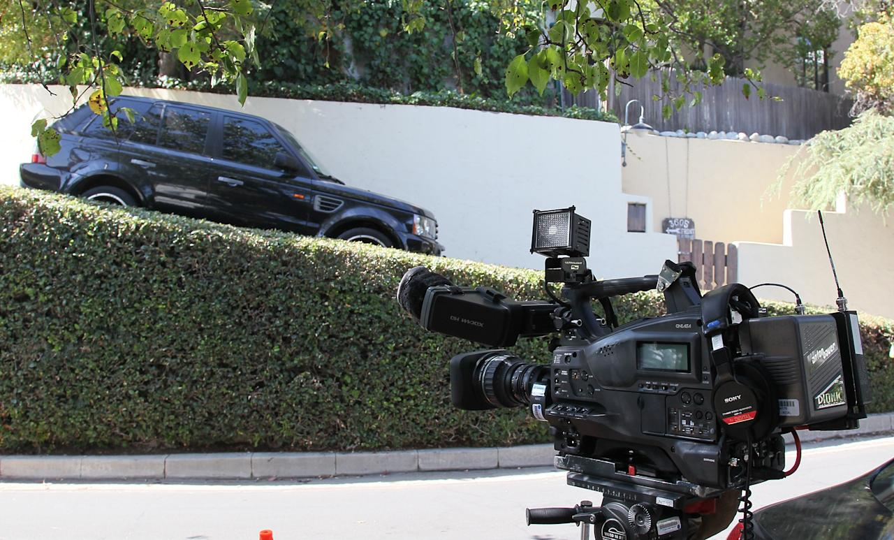 LOS ANGELES, CA - SEPTEMBER 27:  A view of the building where actor Johnny Lewis was found dead is seen on September 27, 2012 in Los Angeles, California.  Lewis was found dead September 26, 2012 after apparently falling from the roof of the building he lived in.  He is also a suspect in the death of a woman who is thought to have been his landlord and was found dead inside the house.  (Photo by David Livingston/Getty Images)