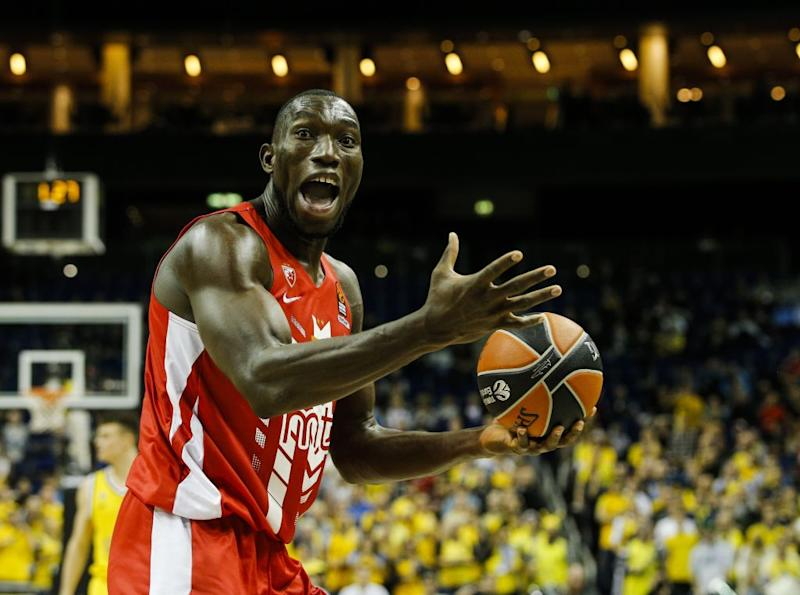 Michael Ojo of Crvena Zvezda in action during a Turkish Airlines Euroleague match in November. Source: Getty