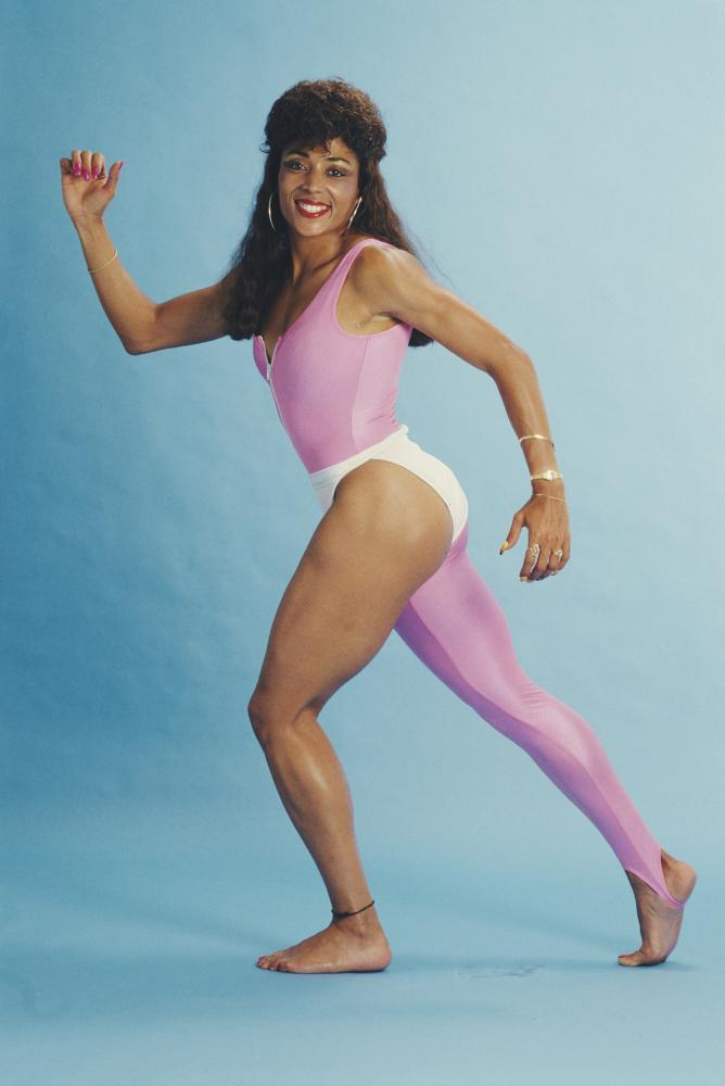 Florence Griffith Joyner's 'one legged' outfit.