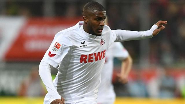 <p>Another tall striker, although this time you may have to pay - just the once - the 1,000 coin mark to receive a more well-balanced player. </p> <br><p>While the other two mentioned are as good in the air, Anthony Modeste can brag 80 jumping while being a better finisher. </p> <br><p>87 strength will ensure he can tank past defenders and 82 finishing will almost always guarantee a goal once you're in the box.</p>