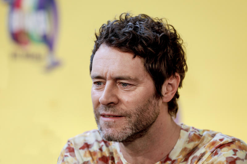 "BERLIN, GERMANY - APRIL 01: Take That singer Howard Donald during the photocall ""The Band - Das Musical"" with the main cast and members of the band Take That at Theater des Westens on April 1, 2019 in Berlin, Germany. (Photo by Isa Foltin/Getty Images)"