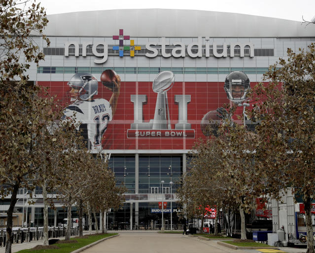 Houston's NRG Stadium hasn't been affected by floodwaters in the city, but the NFL wisely decided it's too dangerous for residents to try to travel there for Thursday's Texans-Cowboys game. (AP)
