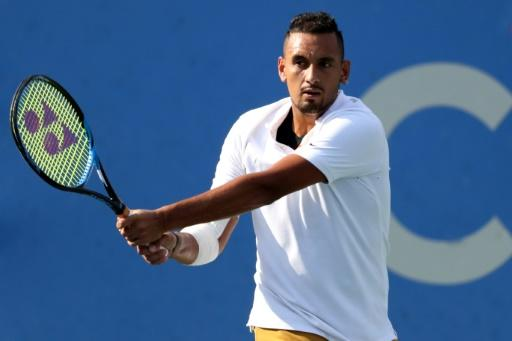Australia's Nick Kyrgios defeated 10th-ranked Russian Daniil Medvedev on Sunday in the ATP Washington Open final