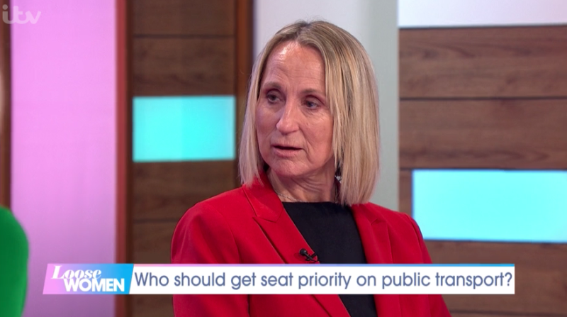 Carol McGiffin said she wouldn't give up a reserved seat to a pregnant woman. (ITV)