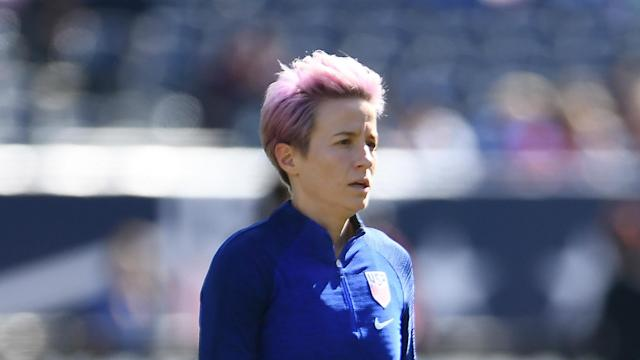 """Megan Rapinoe branded the fine handed to Bulgaria following racist abuse at a home game as """"a joke"""" and has urged others to take a stand."""