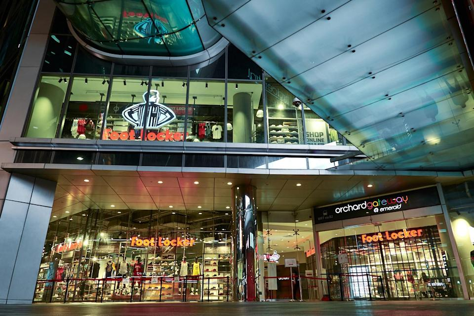 An exterior view of Foot Locker's store in Singapore. - Credit: Courtesy of Foot Locker