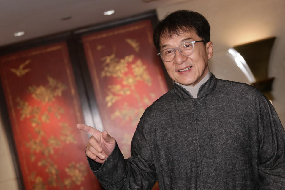 Jackie Chan, pictured earlier this month, was recently the father of the bride when his daughter — with whom he has no relationship — was married. (Photo: VCG/VCG via Getty Images)