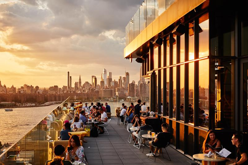 The William Vale's hugely popular rooftop bar offers amazing views, drinks and small plates - Read McKendree