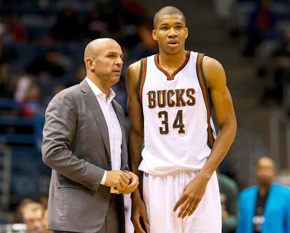 Giannis Antetokounmpo advanced to the postseason for the first time in 2014, Jason Kidd's first season with the Bucks.