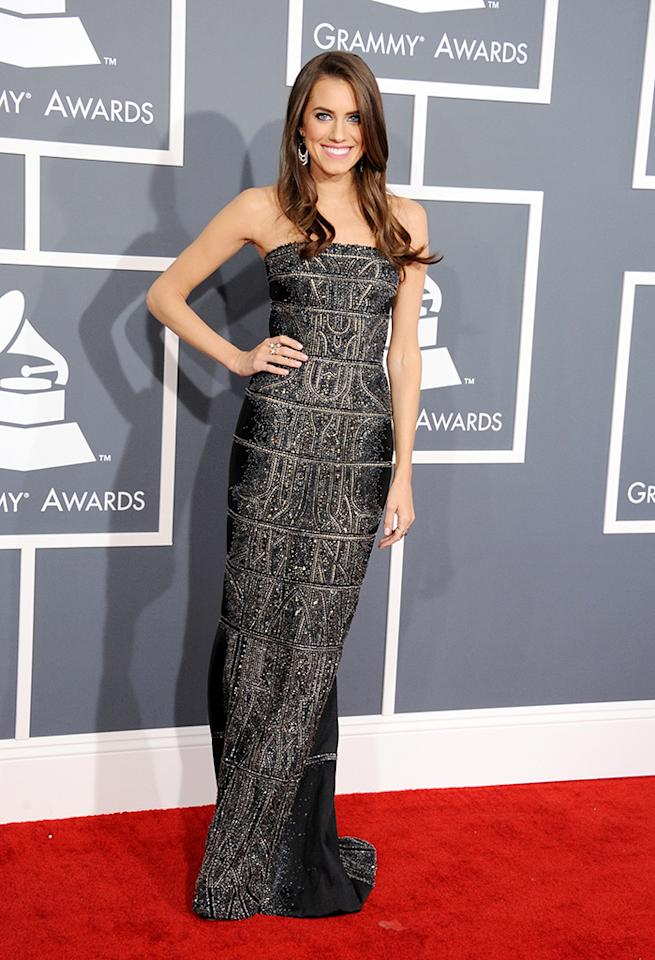 Allison Williams arrive at the 55th Annual Grammy Awards at the Staples Center in Los Angeles, CA on February 10, 2013.