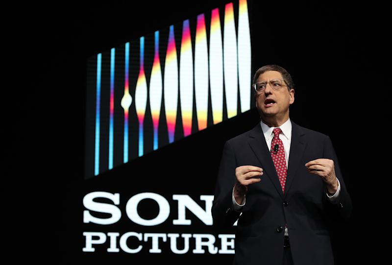 LAS VEGAS, NEVADA - JANUARY 07: Sony Pictures Motion Picture Group chairman Tom Rothman speaks during a Sony press event for CES 2019 at the Las Vegas Convention Center on January 7, 2019 in Las Vegas, Nevada. CES, the world's largest annual consumer technology trade show, runs from January 8-11 and features about 4,500 exhibitors showing off their latest products and services to more than 180,000 attendees. (Photo by Justin Sullivan/Getty Images)
