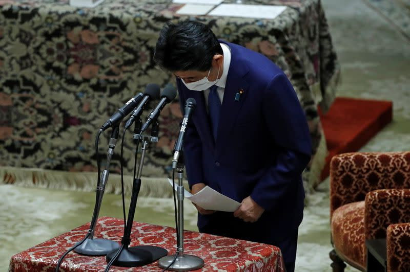 Former Japanese PM Abe faces questioning in Tokyo