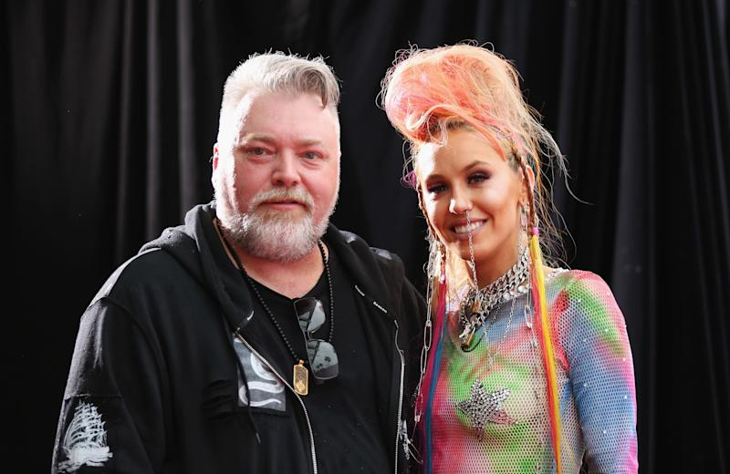 Kyle Sandilands and Imogen Anthony at the 30th Annual ARIA Awards 2016.
