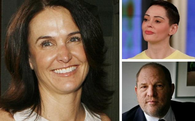 An email from Jill Messick (pictured left in 2007) was used by Harvey Weinstein to counter Rose McGowan's allegations of sexual assault - GETTY IMAGES/AP
