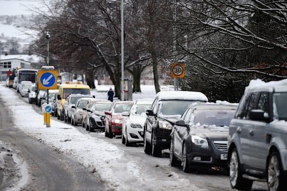 Snowy Weather Brings Balloch To A Standstill
