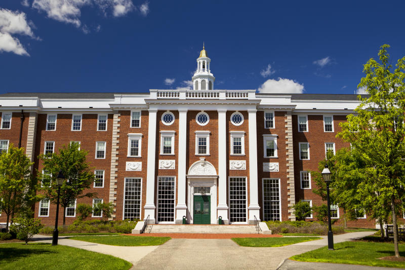 A building at the Harvard Business School