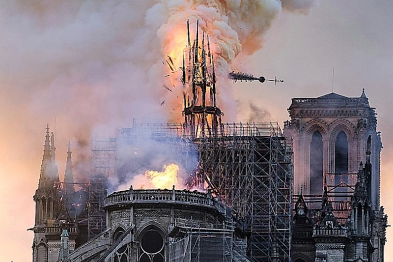 Paris to Remove Notre-Dame Cathedral Scaffolding After Devastating Collapse of Spire in Blaze