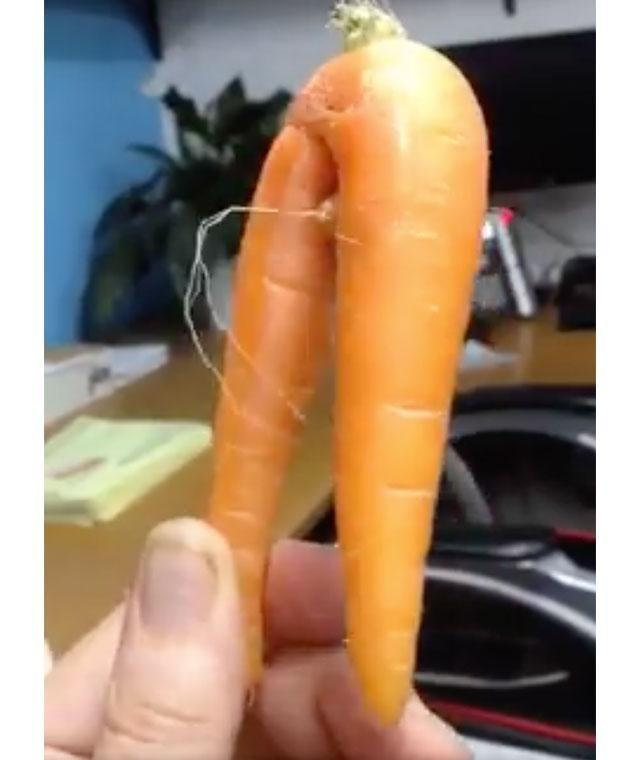 You'll never look at carrots the same way again. Photo: Facebook