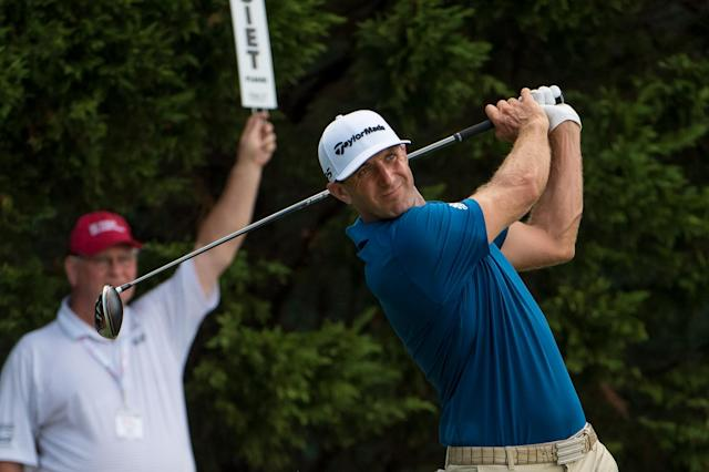 """<a class=""""link rapid-noclick-resp"""" href=""""/pga/players/9267/"""" data-ylk=""""slk:Dustin Johnson"""">Dustin Johnson</a> finished in a tie for last Sunday at the Tour Championship in Atlanta, and is in one of the worst slumps of his career. (John Adams/Getty Images)"""