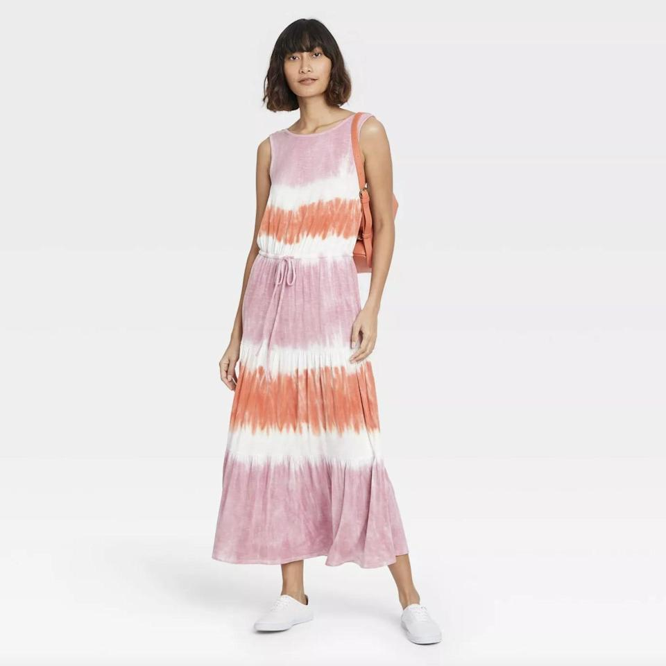 <p>Bring your love of tie dye to your street style with this <span>Knox Rose Sleeveless Knit Dress</span> ($21, originally $25). Between the easy silhouette and drawstring waist, this is one maxi dress you'll want to wear both at home and in public.</p>