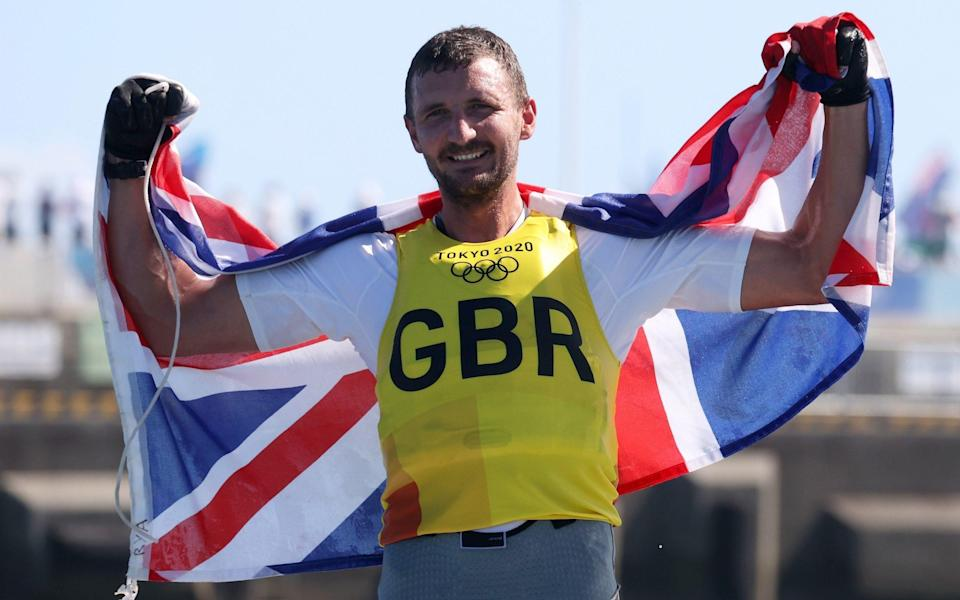 Scott secured a memorable win to claim Britain's sixth consecutive gold in the in the FInn class - GETTY IMAGES
