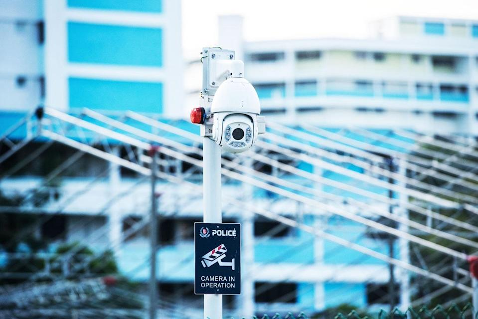 A police camera in Singapore. (Yahoo file photo)