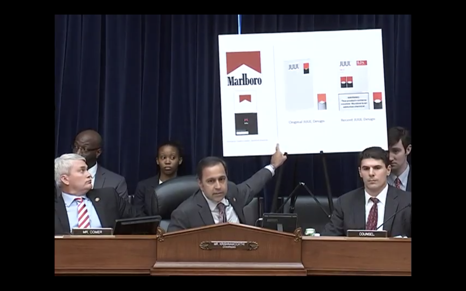 Screenshot of the hearing from YouTube.