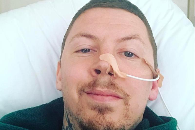 'On the mend': Professor Green is in hospital with pneumonia: Professor Green/Instagram