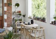 """<p>Give your <a href=""""https://www.housebeautiful.com/uk/garden/designs/how-to/a781/balcony-garden-guide/"""" rel=""""nofollow noopener"""" target=""""_blank"""" data-ylk=""""slk:balcony"""" class=""""link rapid-noclick-resp"""">balcony</a> or <a href=""""https://www.housebeautiful.com/uk/garden/designs/how-to/a782/small-garden-guide/"""" rel=""""nofollow noopener"""" target=""""_blank"""" data-ylk=""""slk:small garden"""" class=""""link rapid-noclick-resp"""">small garden</a> the love it deserves with this stylish Scandi-style dining set. Excellent for small spaces, the chairs can be pushed underneath the table when not in use.</p><p><a class=""""link rapid-noclick-resp"""" href=""""https://go.redirectingat.com?id=127X1599956&url=https%3A%2F%2Fwww.johnlewis.com%2Fjohn-lewis-partners-tuck-2-seater-garden-dining-table-chairs-set-fsc-certified-acacia-wood-natural%2Fp5296315&sref=https%3A%2F%2Fwww.housebeautiful.com%2Fuk%2Flifestyle%2Fg35954786%2Fjohn-lewis-garden-collection-spring-summer%2F"""" rel=""""nofollow noopener"""" target=""""_blank"""" data-ylk=""""slk:SHOP NOW"""">SHOP NOW</a></p>"""