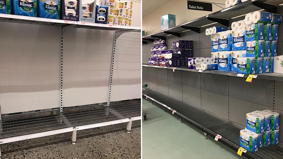 Panic buying has already started as Victoria heads into lockdown from 11.59pm on Friday. Source: Twitter - @CourtsterStrong/@badiucao