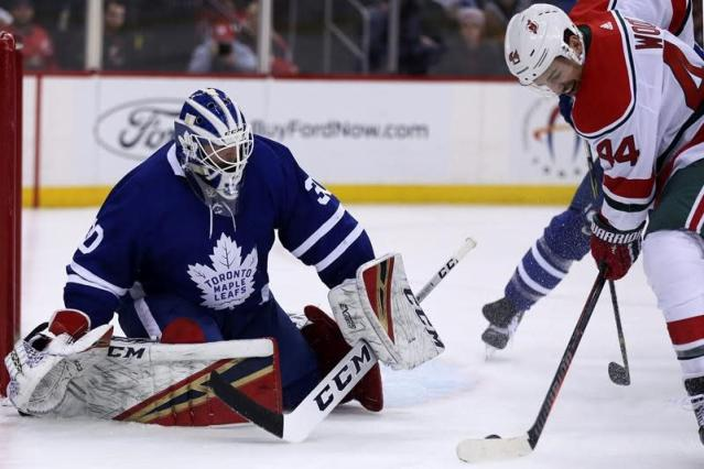 """NEWARK, N.J. — John Tavares is earning every penny of the seven-year, $77 million contract the Toronto Maple Leafs gave him in the off-season. Not only is he living up to the hype, the 28-year-old centre is having a career year. Tavares scored twice and hit the 300-goal mark for his career in leading the Maple Leafs to a 4-2 victory over the New Jersey Devils on Thursday night. """"It's always that more satisfying when it contributes to a big win, especially bouncing back after the other night, so credit a lot of guys who I've played with over my career because obviously that was a big part of helping me be successful,"""" said Tavares, who also picked up an assist on linemate Mitch Marner's empty-net goal with 22 seconds to play. Tavares' best season was 38 goals and 48 assists in 2014-15 with the Islanders. He now had 29 goals and 21 assists in 43 games with the Maple Leafs. Tavares and Marner were helped by the return of left wing Zach Hyman, who was activated missing eight games with an ankle injury. """"They're awesome,"""" Hyman said after posting a plus-4 night. """"I just try and get them the puck as much as I can. John's pretty tenacious on it and you see how strong he is and how he gets the puck back all the time. He's one of the best finishers around the net. Mitch is an elite passer but he can also get himself open to shoot and you're seeing more of that this year."""" Defenceman Ron Hainsey also scored in Toronto's three-goal first period and third-string goaltender Michael Hutchinson made 27 saves as the Maple Leafs beat the Devils for the third time in as many games. """"We need to start stringing together wins and playing complete games and giving ourselves a shot,"""" forward Kyle Palmieri said after New Jersey lost for the fourth time in five games. """"Tonight, obviously, we dug ourselves a bit of hole, but it was good to see we stuck with our game."""" Blake Coleman and Brian Boyle scored in a 26-second span for the Devils late in the second period to get New Jersey within a """