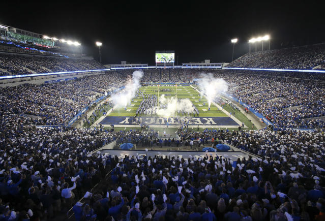 Kentucky's Commonwealth Stadium is now known as Kroger Field. (AP)