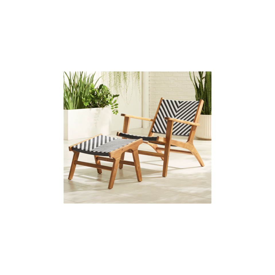 """<p><strong>West Elm</strong></p><p>westelm.com</p><p><strong>$499.00</strong></p><p><a href=""""https://go.redirectingat.com?id=74968X1596630&url=https%3A%2F%2Fwww.westelm.com%2Fproducts%2Fbondi-outdoor-lounge-chair-ottoman-set-h5296&sref=https%3A%2F%2Fwww.oprahdaily.com%2Flife%2Fg36661332%2Fbest-pool-lounge-chair%2F"""" rel=""""nofollow noopener"""" target=""""_blank"""" data-ylk=""""slk:SHOP NOW"""" class=""""link rapid-noclick-resp"""">SHOP NOW</a></p><p>A chair and ottoman set offers enviable flexibility, since you can use them together as a lounger, or separately if you need extra seating during an outdoor gathering. </p>"""